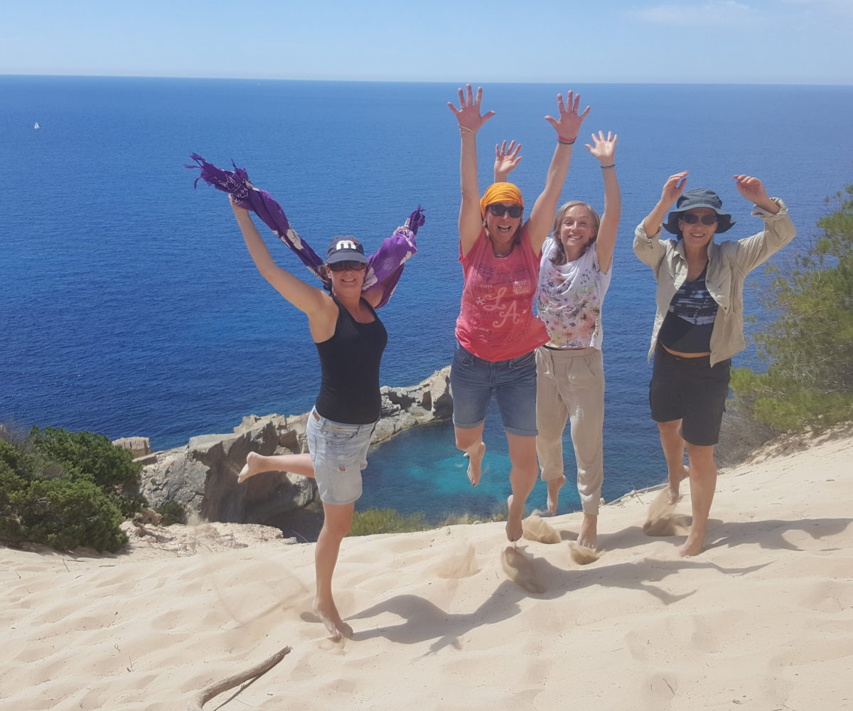 Deelneemsters Ibiza retreat