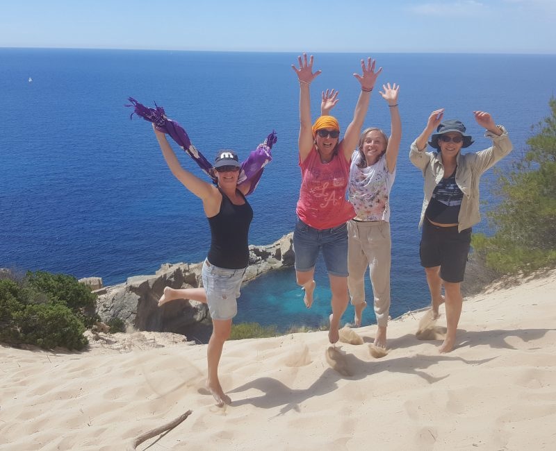 Deelneemsters Ibiza retreat